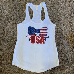 NWOT Cheer Bow USA Tank Top S